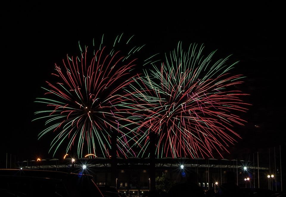 Fireworks, Berlin, Festival, Pyronale, Olympic Stadium