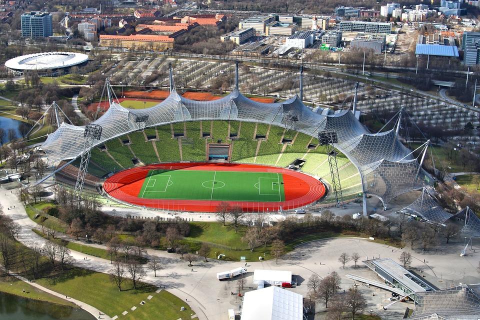 Olympic Stadium, Munich, Stadium, Architecture, Sit