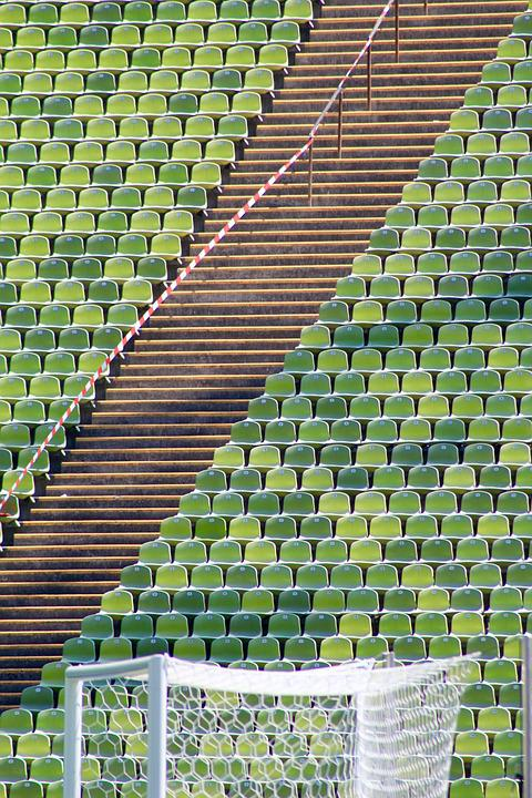 Stadium, Goal, Football, Olympic Station, Munich, Sit