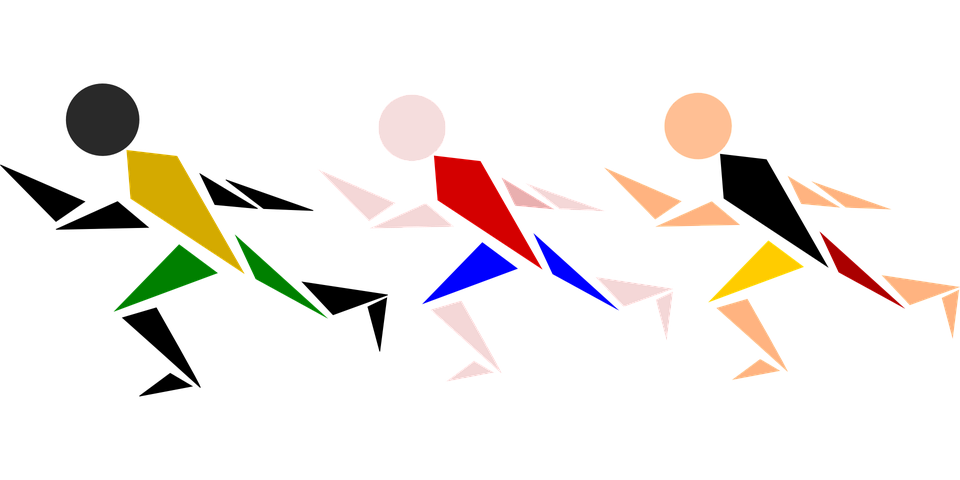 Race, Men, Olympics, Starting, Competition, Athletes