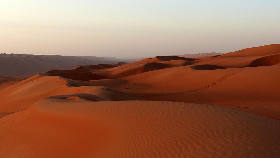 Dune, Sunset, Desert, Oman, Landscape, Sand, Dunes