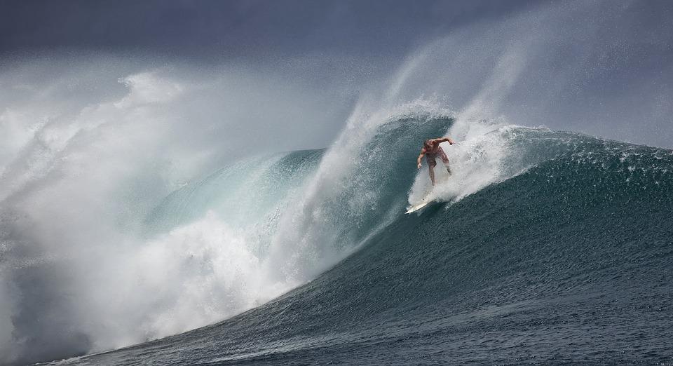Surfing, Indonesia, Java Island, Ombak Tujuh, Big Waves