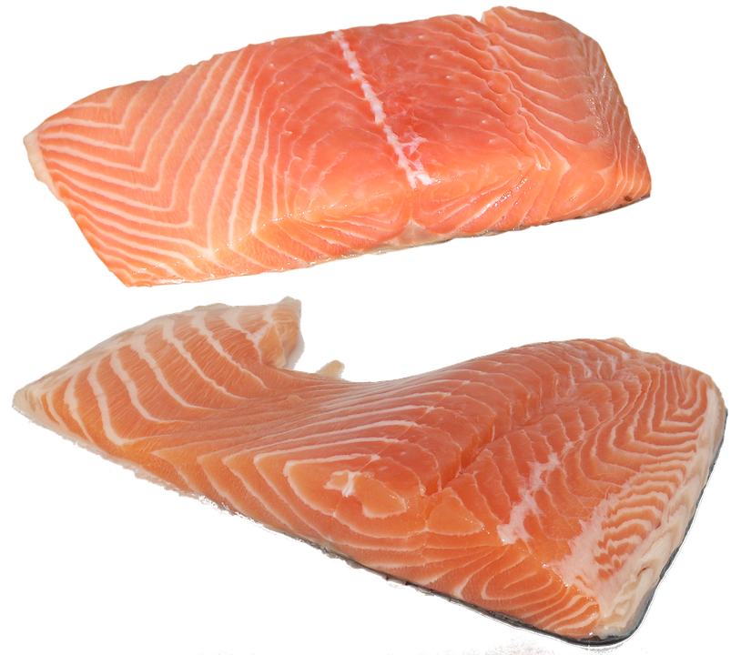 Fish, Salmon, Fillet, Omega-3, Omega-6, Vitamins