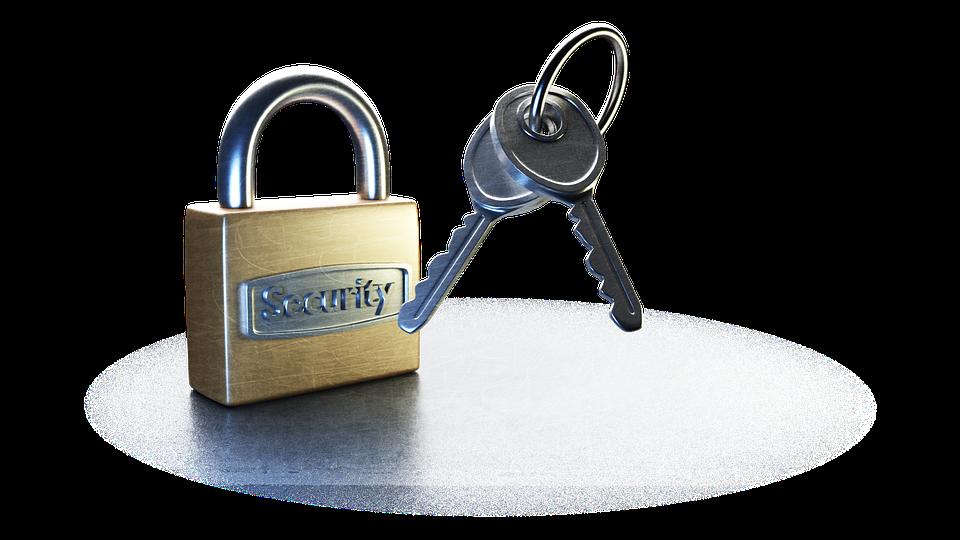Keys, Key, Lock, On A White Background, Keychain