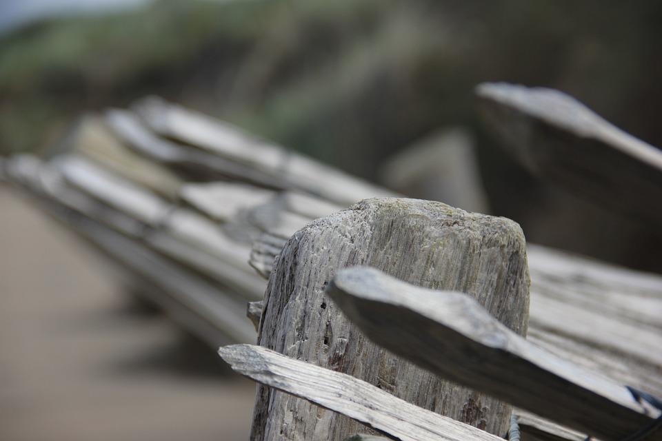 Picket, Fence, On, Beach, Sand Beach, Ireland