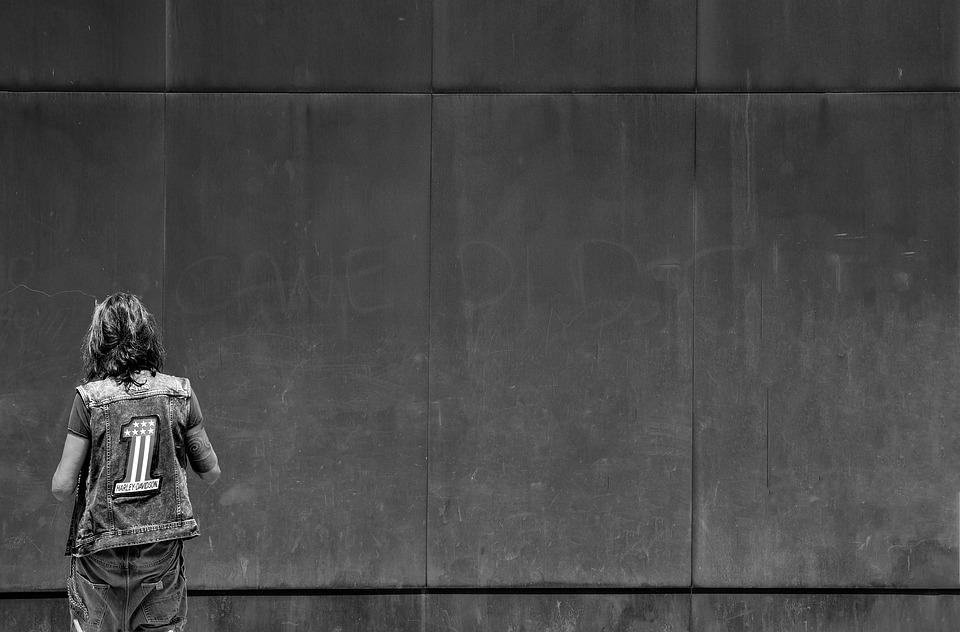Wall, Man, Rusted, Minimalism, Minimal, One, Black