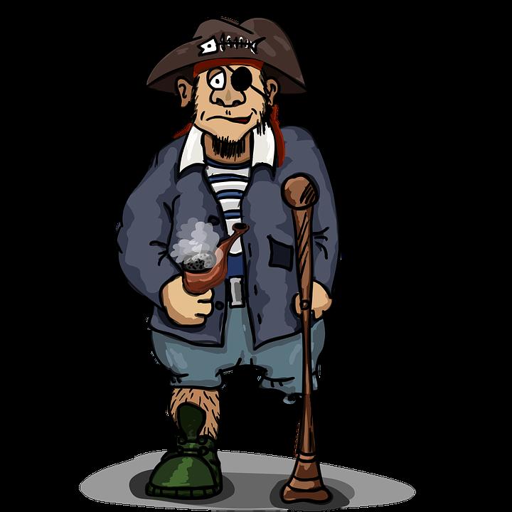 Pirate, One-eyed, One-legged, Three-cornered Hat