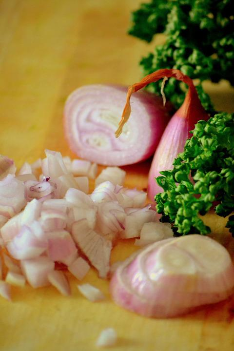 Onions, Parsley, Raw, Healthy, Nutrition, Cut, Food