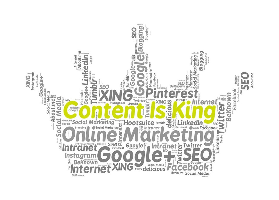 Content Is King, Online Marketing, Google, Facebook