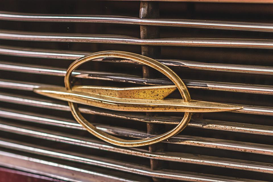 Opel, Logo, Flash, Olympia, Record, Gold, Grille