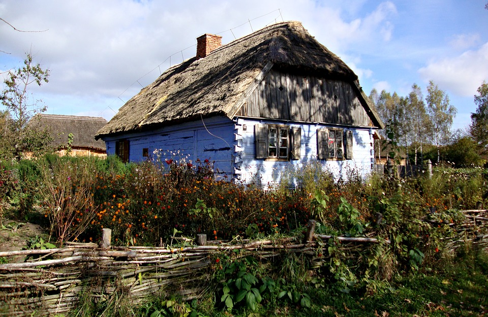Sierpc, Poland, Open Air Museum, Rural Cottage, Autumn