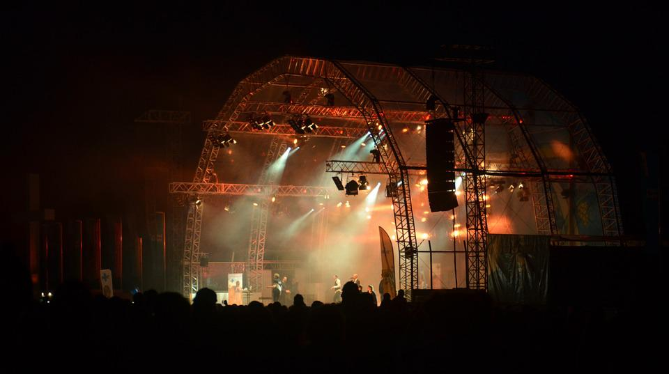 Stage, Concert, Festival, Open Air, Event, Night