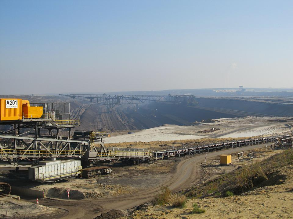 Open Pit Mining, Brown Coal, Multi-bucket, Removal