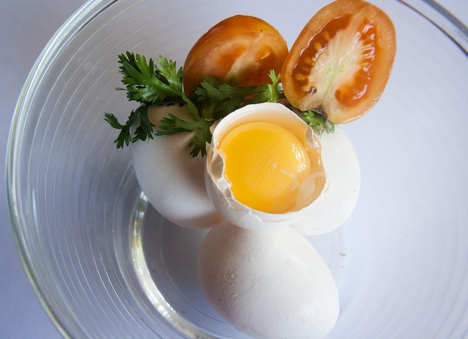 Egg, Egg Yolk, Yellow, Cracked, Open, Protein, Yolk