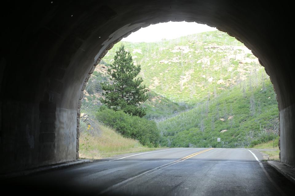 Tunnel, Open Road, Road, Highway, Open, Asphalt