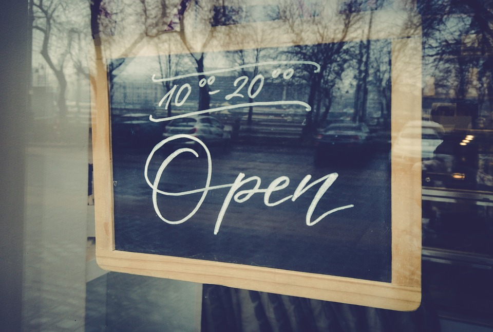 Open, Table, Restaurant, Window, Sign, Store, Closed