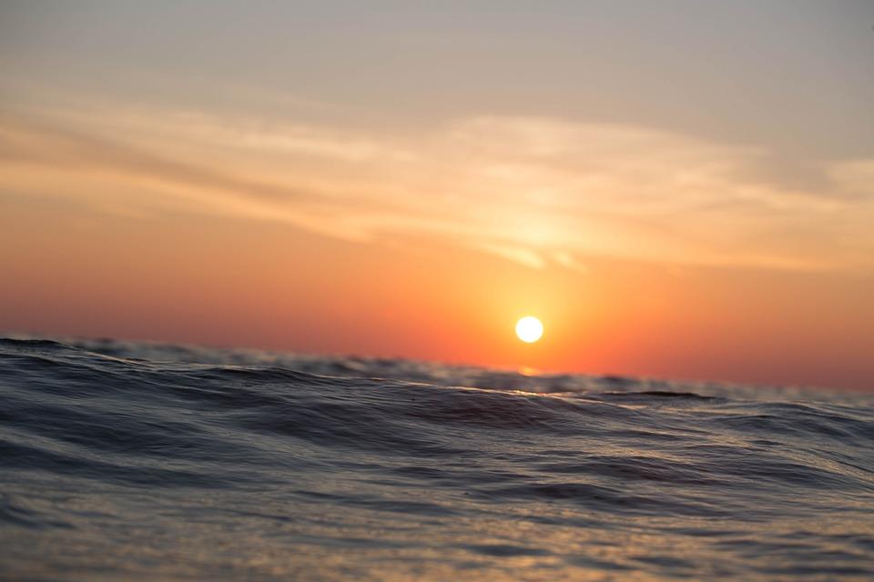 Sunset, Ocean, Sea, Open Water, Open Sea, Seascape