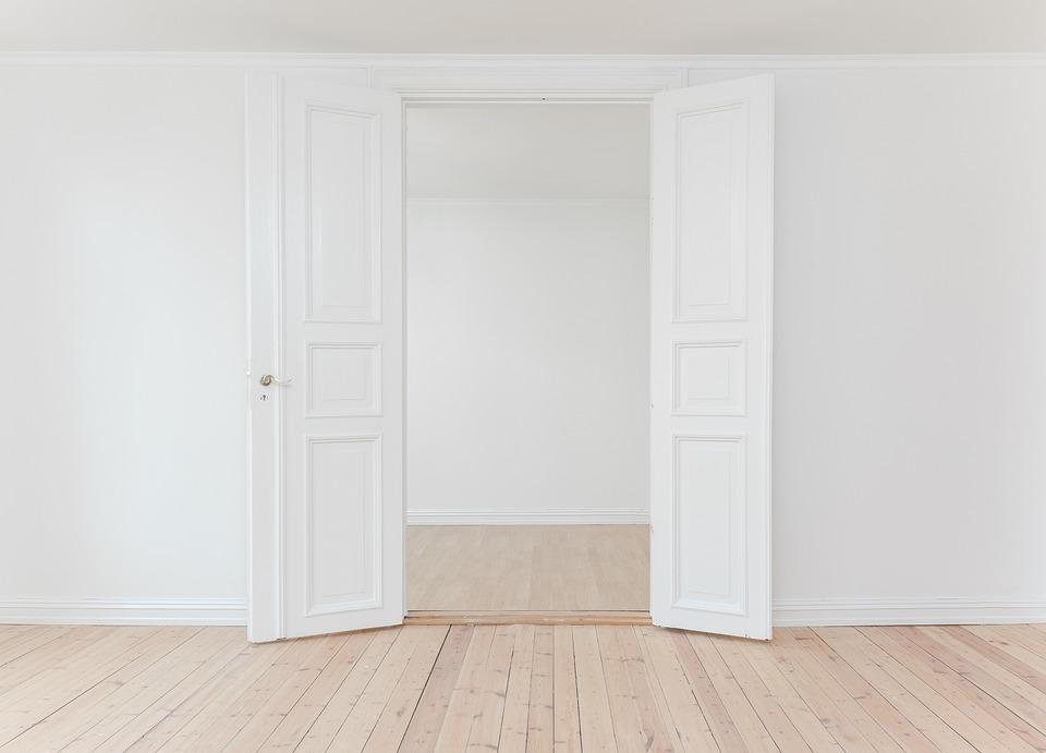 free photo open white door interior indoor wall floor max pixel