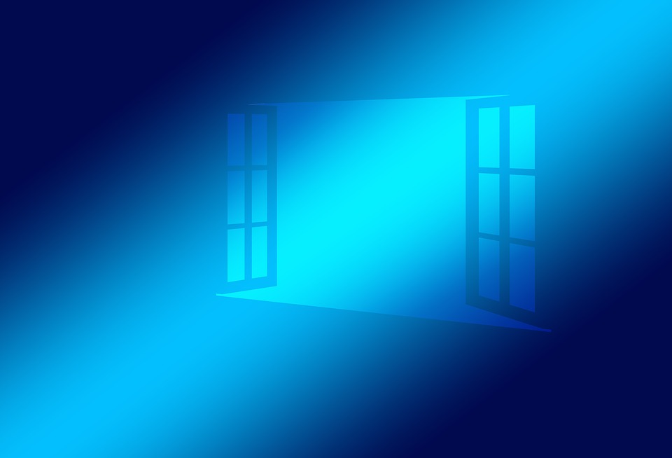 Window, Open, Blue, Operating System, Windows 10