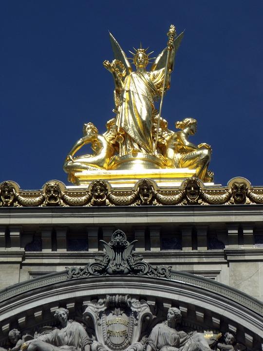 Paris, Opera Garnier, Gold, Garnier, France, Opera