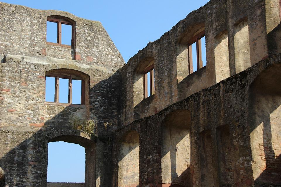 Oppenheim, Castle, Ruin, Wall
