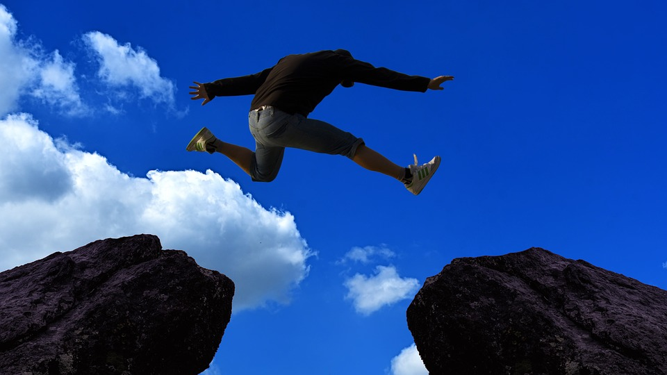 Possible, Impossible, Opportunity, Option, Person, Jump