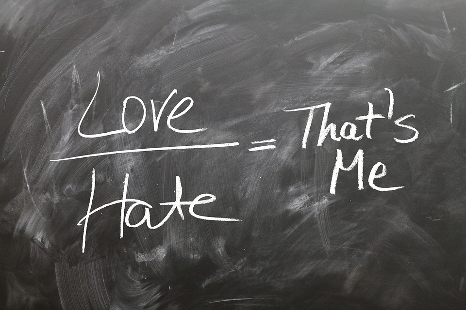 Board, Blackboard, Font, Love, Hatred, I, Opposition