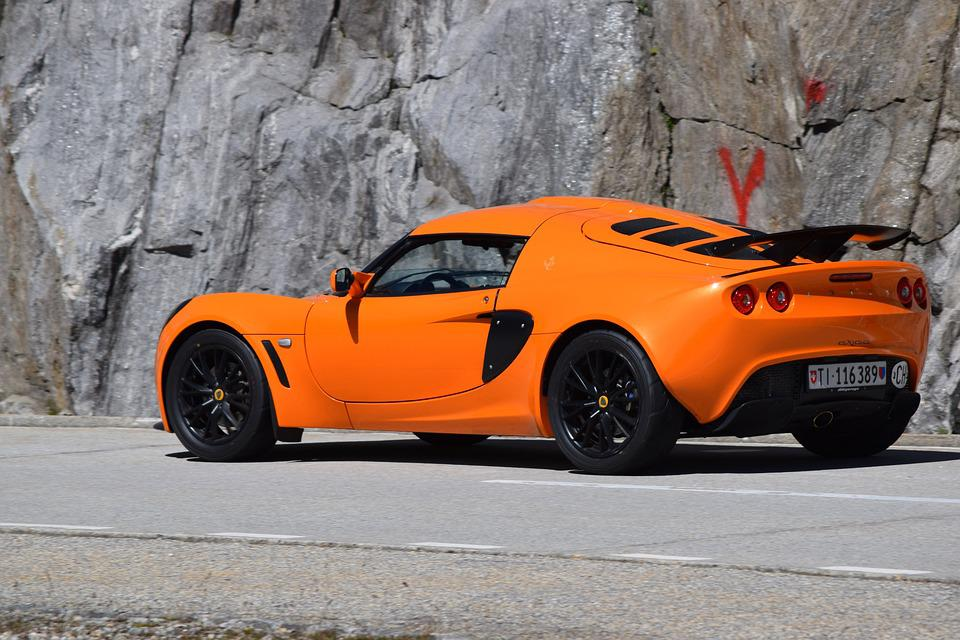 Car, Sporty, Lotus, Auto, Orange, Wheels, Switzerland