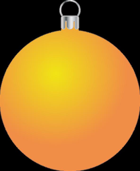 Bauble, Ornament, Christmas, Orange, Christmas Ball