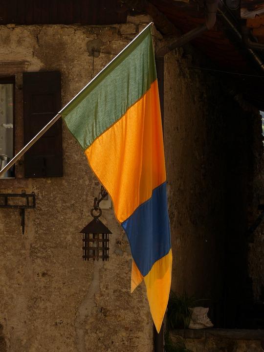 Flag, Green, Orange, Blue, Canale Di Tenno, Tenno