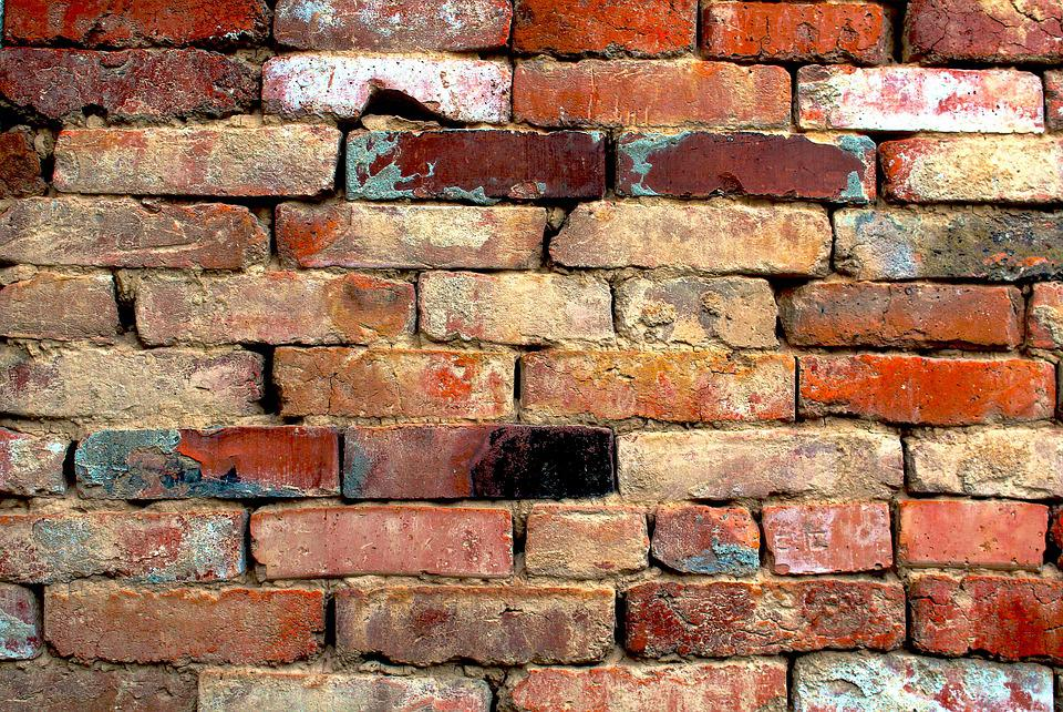 Brick Wall Background Orange Brown