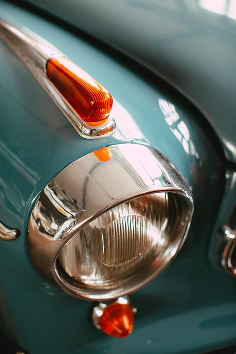 Car Light, Green Color, Orange