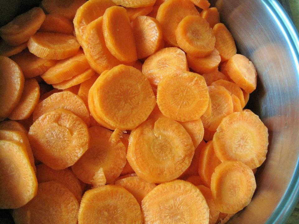 Pot, Carrots, Disks, Vegetable, Orange, Cook, Food