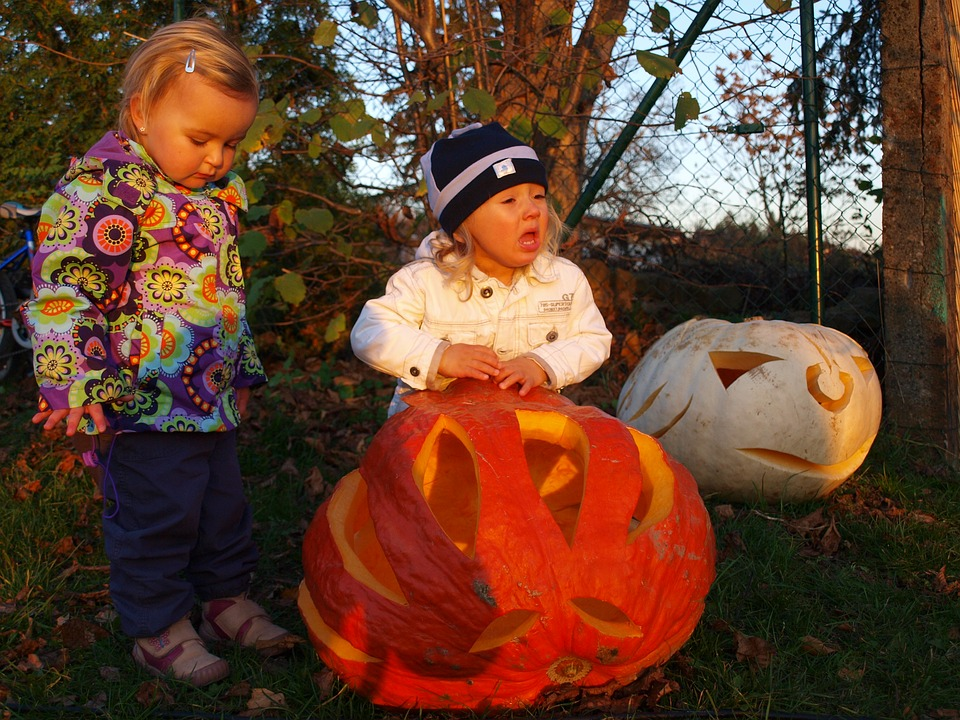 Pumpkin, Autumn, Children, Halloween, Orange