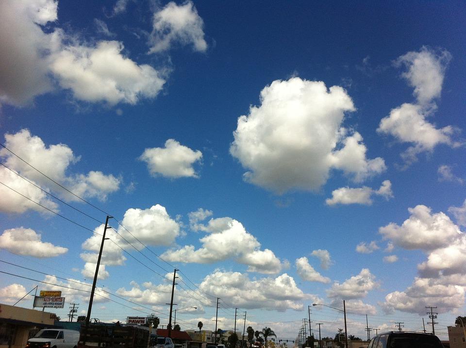 Clouds, Blue, Sky, Bright, Orange County
