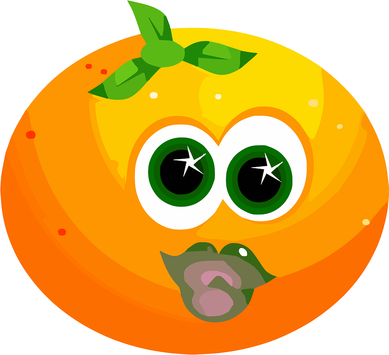 Fruit, Face, Orange, Cute, Citrus, Juicy, Orange Fruits