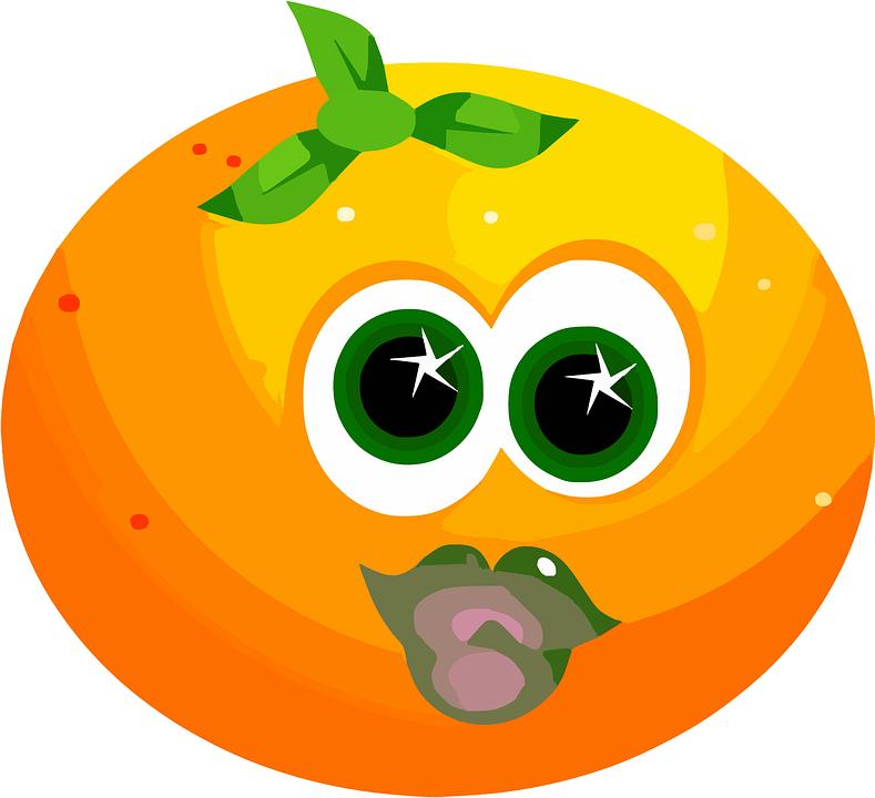 Fruit, Face, Orange, Cute, Citrus, Juicy, Orange Fruits