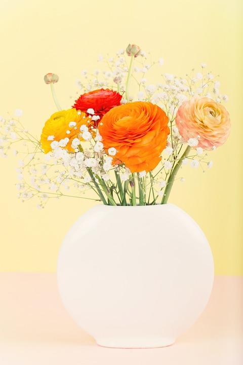 Free photo Orange Flower Vase Ranunculus Flowers Bouquet - Max Pixel