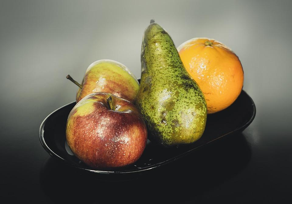 Studio, Fruit, Apple, Pear, Orange, Red, Apples, Food
