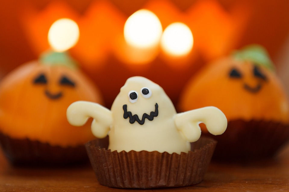 Sweet, Ghost, Food, Halloween, Dessert, Holiday, Orange