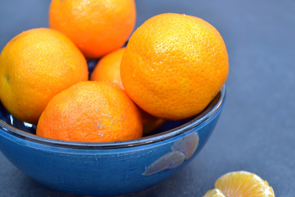 Mandarins, Bowl, Orange, Fruit, Food, Healthy