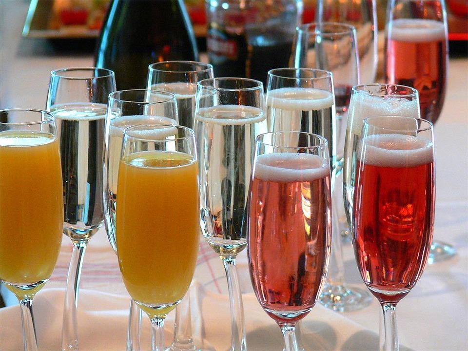 Champagne, Beverages, Orange Juice, Champagne Glasses