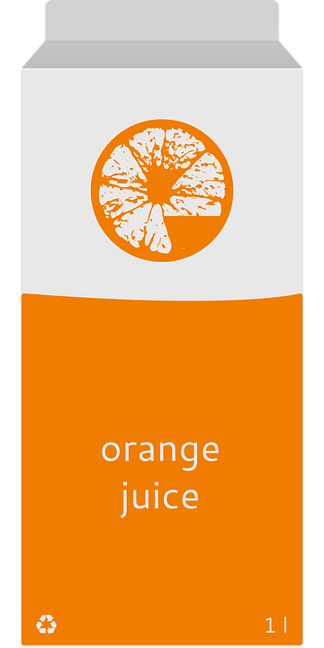 Carton, Drink, Juice, Orange