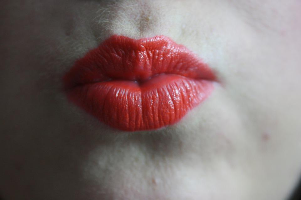 Kiss, Festive, Lipstick, Red, Bold, Orange