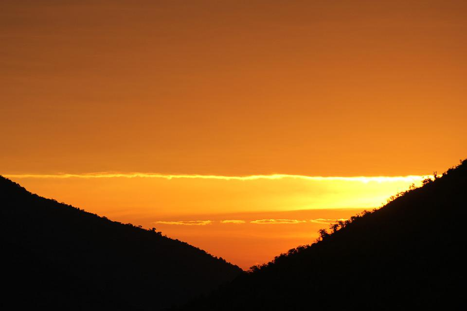 Sunset, Pilanesberg, Mountain, Orange, Summer