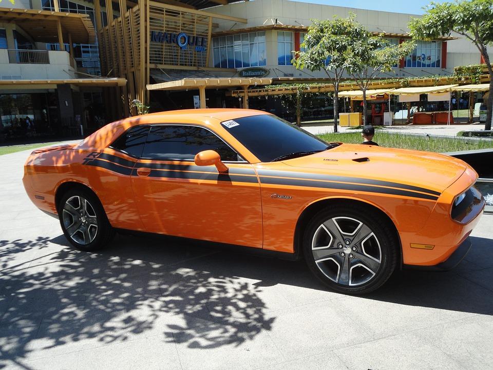Free Photo Orange Muscle Car Automobile Retro Challenger Max Pixel