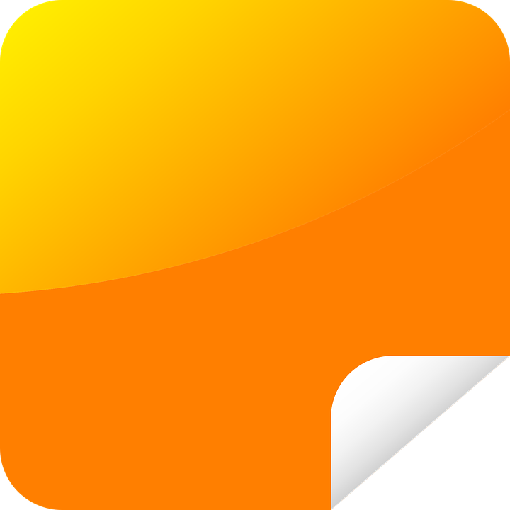 Orange, Peeling, Rectangle, Sticker