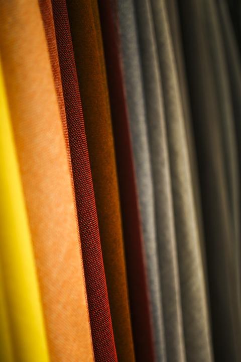 Fabric, Fabrics, Color, Colorful, Red, Yellow, Orange
