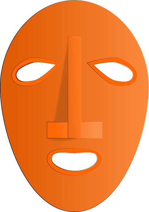 Face, Mask, Ritual, Traditional, Orange