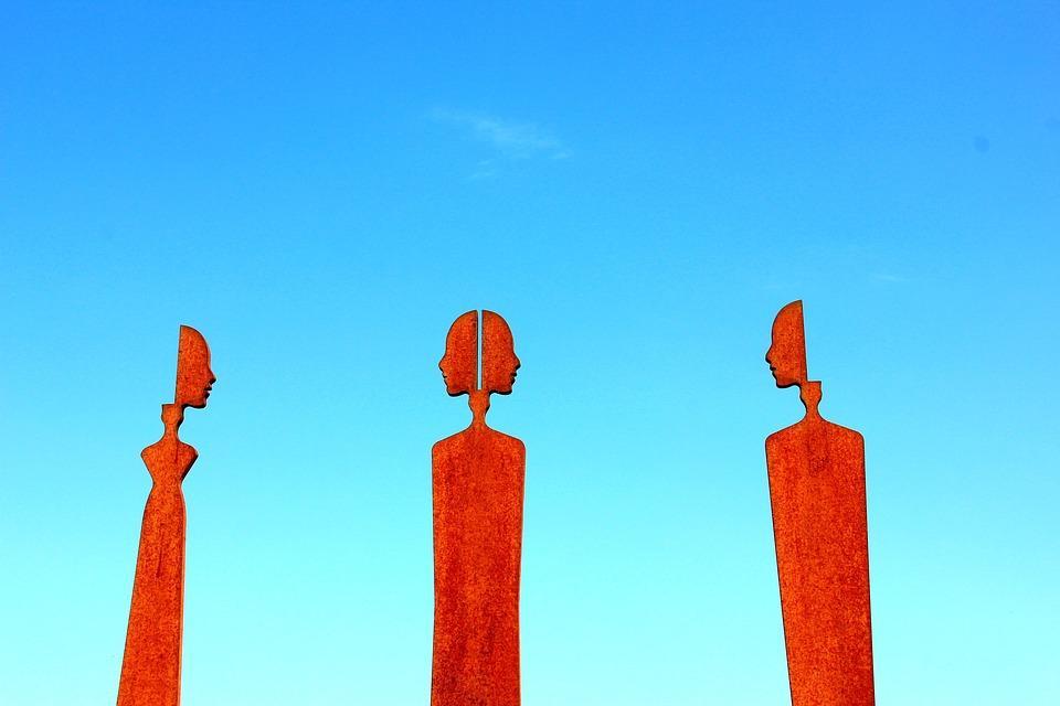 Art, Orange, Sky, Face, People